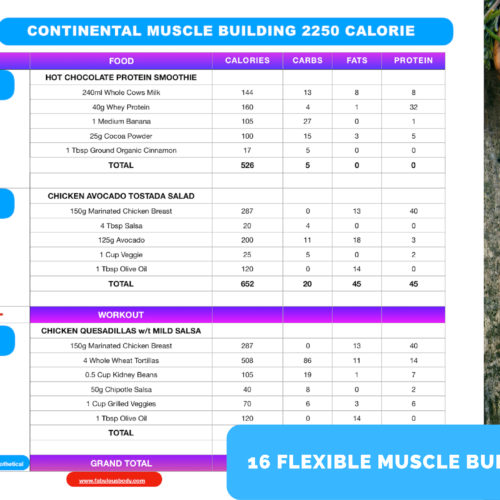 fabulous body muscle building diet plans
